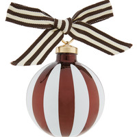 Henri Bendel Striped Ball Ornament