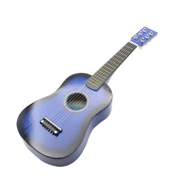 """23"""" Guitar Mini Guitar Basswood Kid's Musical Toy Acoustic Stringed Instrument with Plectrum 1st String"""