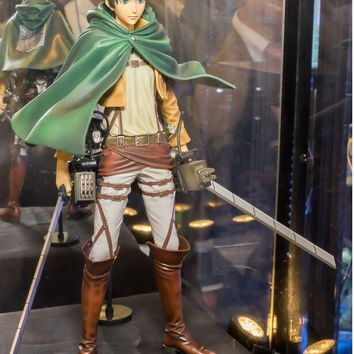 original banpresto attack on titan Figurine Eren Jaeger figure toy doll model juguete 26cm