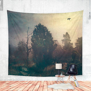 Home is where the fog is Wall tapestry