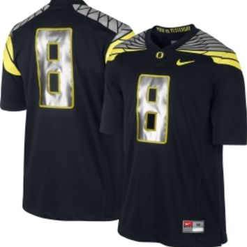 Nike Men's Oregon Ducks Black #8 Mach Speed Limited Football Jersey - Dick's Sporting Goods