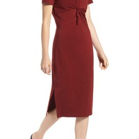 Treasure & Bond Twist Front Midi Dress | Nordstrom