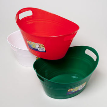 Oval Basket Tub with Double Handles Case Pack 48