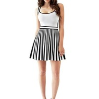 Sleeveless Mirage Bandage Striped Dress | GUESS.com