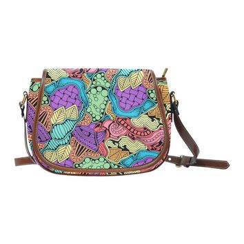 Doodle Native Zen Art Women's Saddle Bag