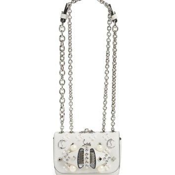 Christian Louboutin Sweet Charity Spiked Calfskin Shoulder/Crossbody Bag | Nordstrom