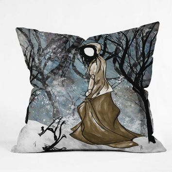Winter illustration Throw pillow