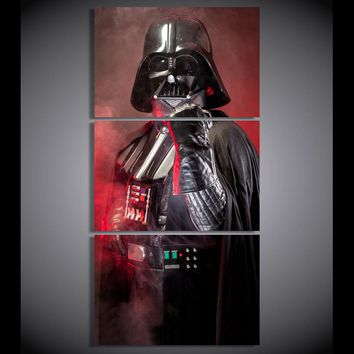 HD Printed  3 piece canvas art Star Wars Empire darth vader painting livingroom decor poster large canvas Free shipping/ny-6371