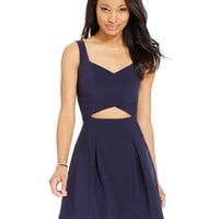 B Darlin Juniors' Cutout Fit & Flare Dress