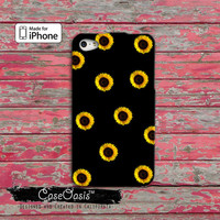 Sunflower Pattern Flower Yellow Cool Cute Tumblr Custom iPhone 4 and 4s Case and Custom iPhone 5 and 5s and 5c Case
