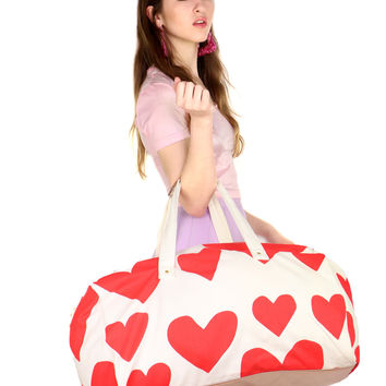 HEART DUFFLE BAG