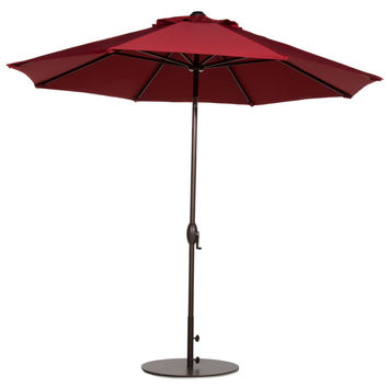 9 foot Patio Umbrella with Push Button Tilt and Crank