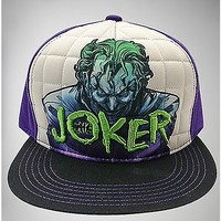 The Joker Quilted Snapback Hat - Spencer's