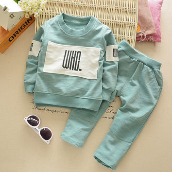 2016 New Autumn Baby Boy Clothing Set Cartoon Infant  Girls Clothes Children Clothes Kids Long Sleeve T Shirts Boys