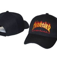 ONETOW Day-First? THRASHER Embroidered Baseball Cap Hat