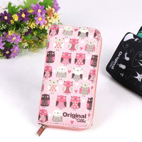 Wallets Lovely Printing Women Wallet Ladies Clutch Change Coin Purse Card Holder Cute Zipper Long Wallet New Arrive