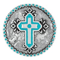 Ginger Snaps Turquoise Navajo Cross Snap SN03-13
