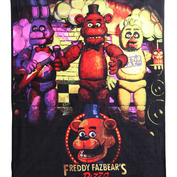 Five Nights at Freddy's Fleece Throw