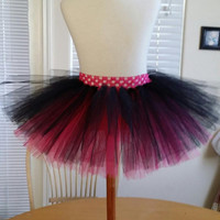 Two Tone Tulle Tutu Skirt in Pink & Black - Grow With Me Tutu