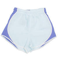 Lauren James Seersucker Striped Shorties- Mint/Lavender- FINAL SALE