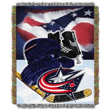 """Blue Jackets OFFICIAL National Hockey League, """"Home Ice Advantage"""" 48""""x 60"""" Woven Tapestry Throw  by The Northwest Company"""