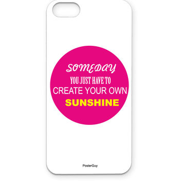 Create Your Own Sunshine Motivational Quote iPhone 5/5S Case