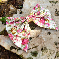 Floral unique BIG hair bow - spring hair bow