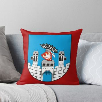 'Sandomierz Coat of Arms' Throw Pillow by planetterra