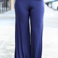 Walk On Palazzo Pants – Navy