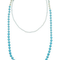 Rosantica Arianna gold-tone turquoise necklace – 63% at THE OUTNET.COM
