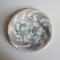 Cicely Plate with Ice Blue Centre