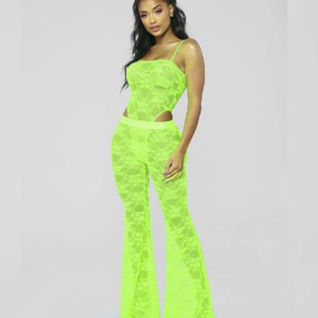 Neon Green Two Piece Set