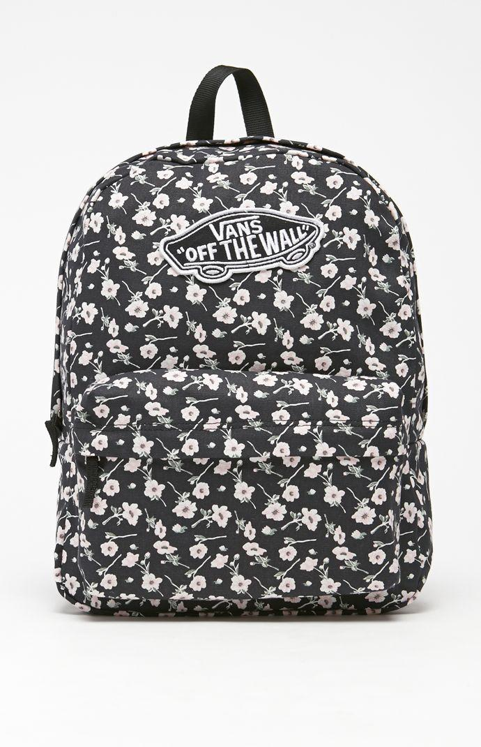 7d470dfaa2 Vans Realm Graphite School Backpack - Womens Backpack - Graphite - NOSZ