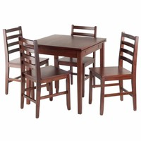 Pulman 5-PC Set Extension Table with Ladder Back Chairs -Winsome Wood
