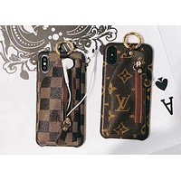 LV X GUCCI X Supreme Popular Personality Zipper Zero Wallet iPhone Phone Cover Case For iphone 6 6s 6plus 6s-plus 7 7plus 8 8plus X I12077-19
