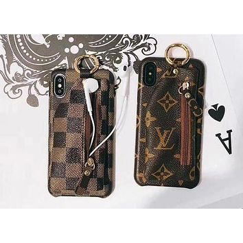 LV X GUCCI X Supreme Popular Personality Zipper Zero Wallet iPho d050be4bcd