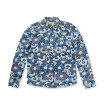 Classic Floral Print Sportshirt
