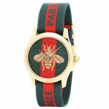 ac NOVQ2A GUCCI Women's Embroidery Fashion Trendy Quartz Watch F