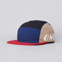 Flatspot - Only NY Cycle 5 Panel Cap Navy / Tan / Red