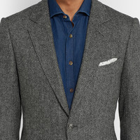 Tom Ford - Herringbone Wool and Cashmere-Blend Blazer | MR PORTER