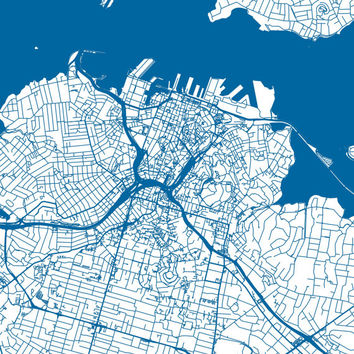 Auckland Map - Roads - Auckland Print - City Map Art of Auckland, New Zealand