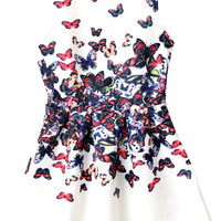 Butterfly Pattern Dress - OASAP.com