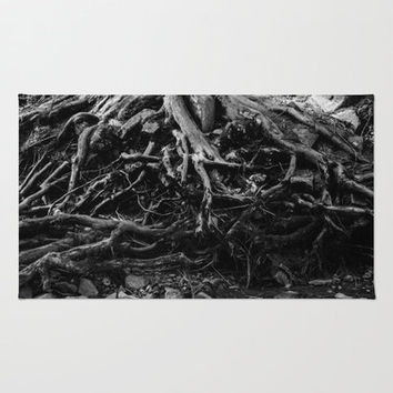 Black and White Throw Rug, Tree Rug, Nature Rug, Woven Throw Rug, Unique Rug, Floor Rug, Area Rug, Photo Rug, Tree Throw Rug,