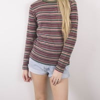 Vintage 70s Striped Knit Sweater