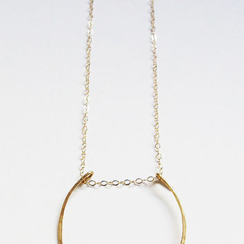 Delicate Petal Gold Necklace
