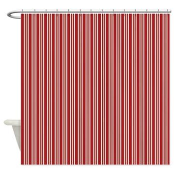 Red and White Double Stripes Shower Curtain> Red and White Double Stripes> Buy Gifts