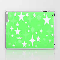 Seafoam Green & White Atomic Stars Laptop & iPad Skin by 2sweet4words Designs | Society6