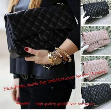 Hot fashion top quality 30cm JUmbo shoulder bag women mummy Large volume shopping tote double flap cultches quilted genuine leather handbag