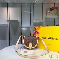 1117 Louis Vuitton LV M55460 Tambourin Monogram Damier Pop Print Cross Saddle Bag 18-15-8cm