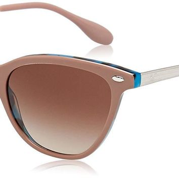 Authentic RAY-BAN RB4360 - 123513 Sunglasses Light Brown Blue/ Silver NEW 54mm